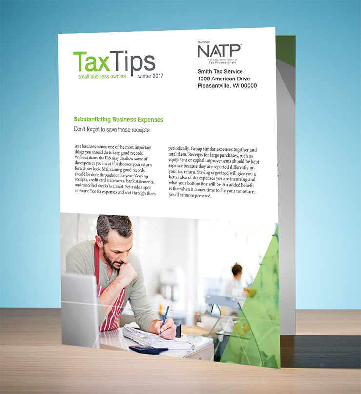 Tax Tips – Business – Single Fold - Personalized (Winter 2017/2018) - #TTSB3735